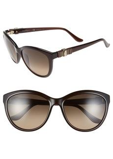 Salvatore Ferragamo 'Vara' 57mm Sunglasses
