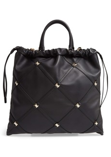 Salvatore Ferragamo Vara Caged Calfskin Leather Tote