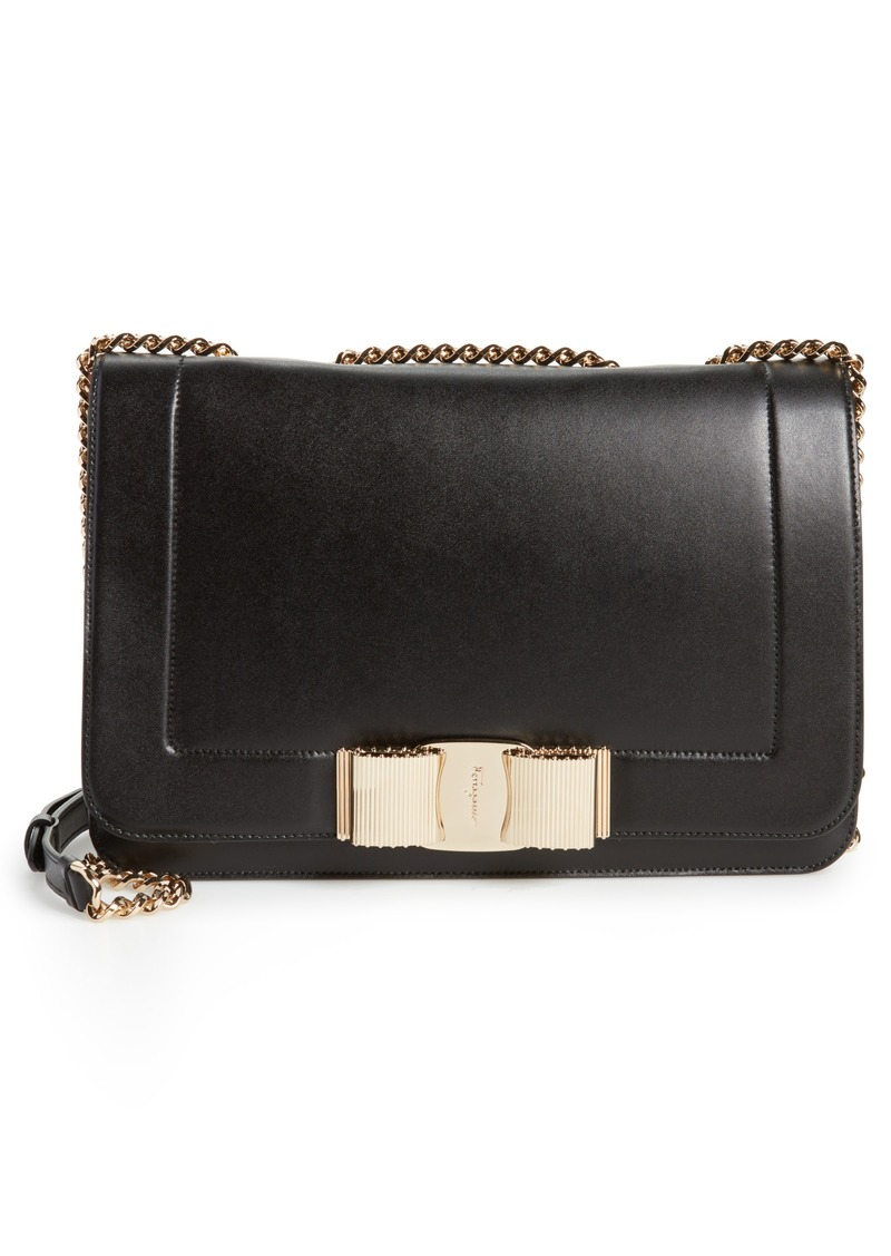 Salvatore Ferragamo Vara Leather Shoulder Bag