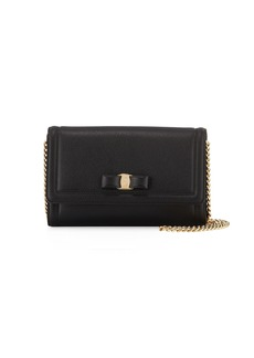 Salvatore Ferragamo Vara Mini Saffiano Crossbody Bag  Black