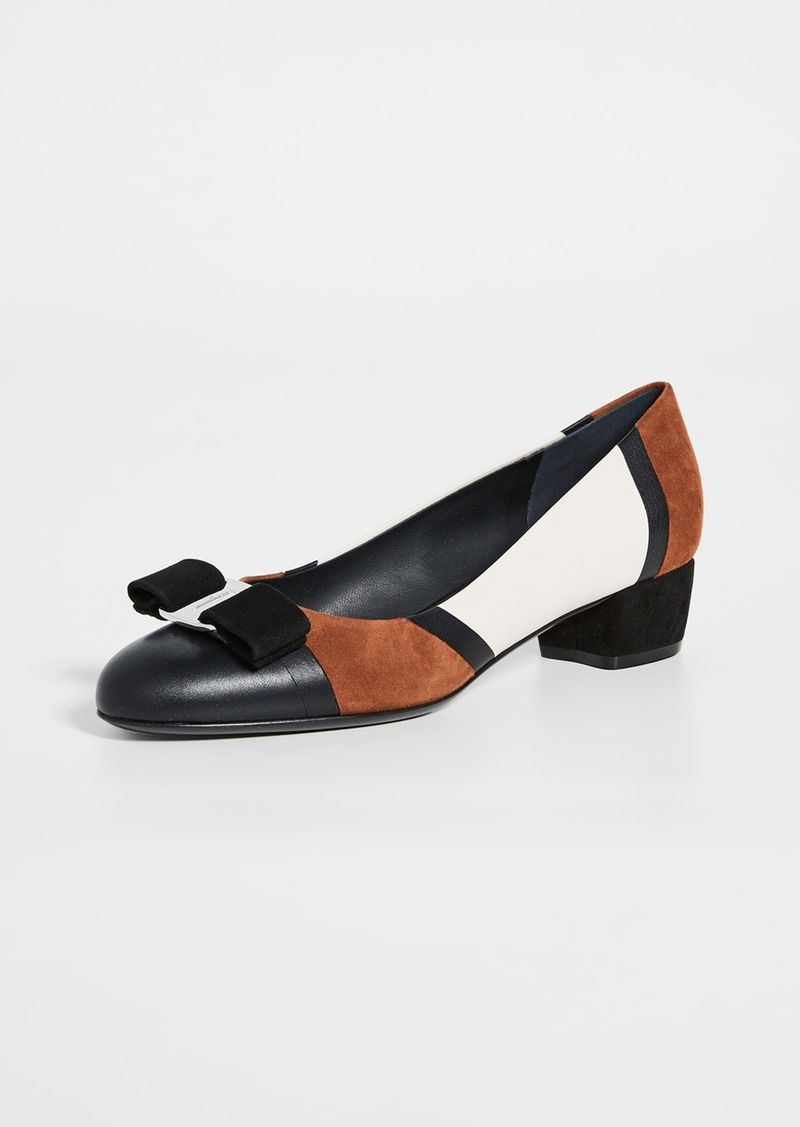 Salvatore Ferragamo Vara Patchwork Low Pumps