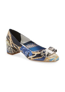 Salvatore Ferragamo Vara Print Bow Pump (Women)