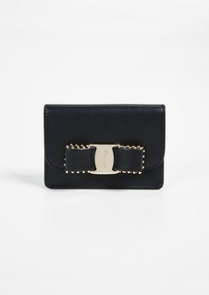 Salvatore Ferragamo Vara Rainbow Studs Key Chain Card Case