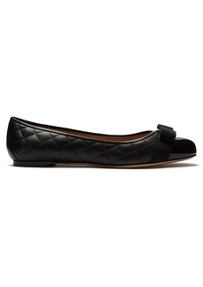 Salvatore Ferragamo Varina quilted-leather ballet flats