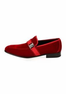 Ferragamo Men's Velvet Formal Loafer