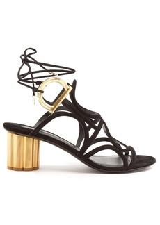 Salvatore Ferragamo Vinci column-heel suede sandals