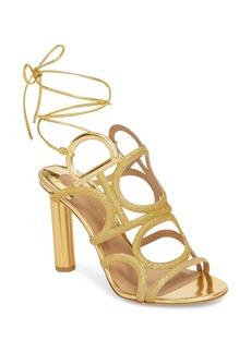 Salvatore Ferragamo Vinci Lace-Up Heeled Sandal (Women)