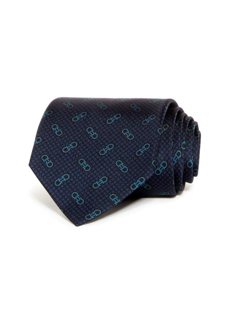Salvatore Ferragamo Vintage Gancini Classic Silk Tie