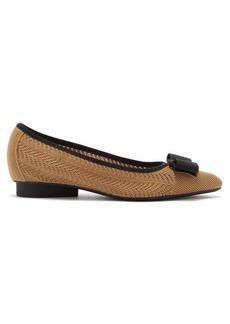 Salvatore Ferragamo Viva pointelle-knitted point-toe flats