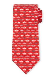 Ferragamo Whale-Print Silk Tie