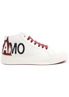 Salvatore Ferragamo White Tour Leather Sneaker