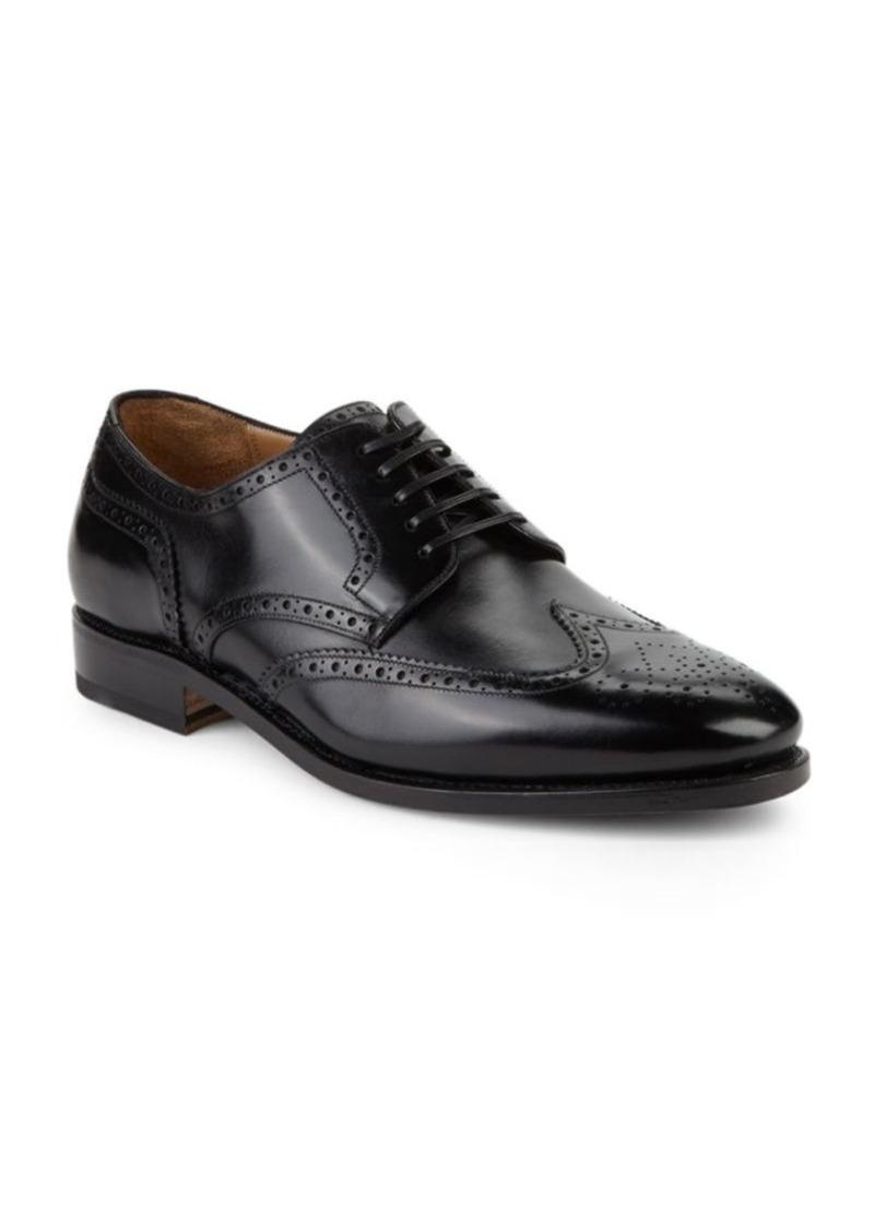 Salvatore Ferragamo Wingtip Brogue Leather Oxfords