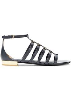Salvatore Ferragamo Woman Acri Ring-embellished Leather Sandals Black