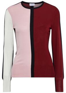 Salvatore Ferragamo Woman Color-block Wool Sweater Multicolor
