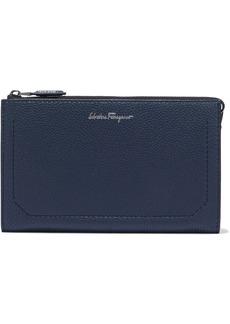 Salvatore Ferragamo Woman Firenze Pebbled-leather Pouch Midnight Blue