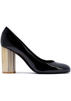 Salvatore Ferragamo Woman Lucca 85 Patent-leather Pumps Black