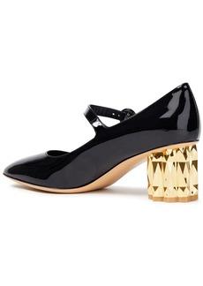 Salvatore Ferragamo Woman Ortensia Patent-leather Mary Jane Pumps Black