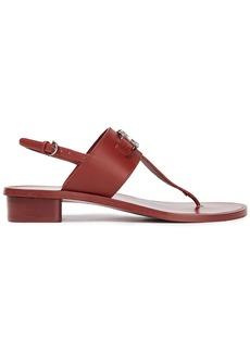Salvatore Ferragamo Woman Roche Embellished Leather Slingback Sandals Brick