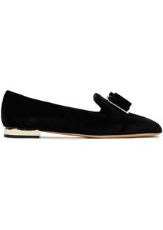 Salvatore Ferragamo Woman Zaneta Bow-embellished Velvet Loafers Black