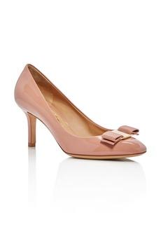 Salvatore Ferragamo Women's Bow Detail Patent Leather Pumps