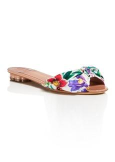 Salvatore Ferragamo Women's Floral Satin Slide Sandals