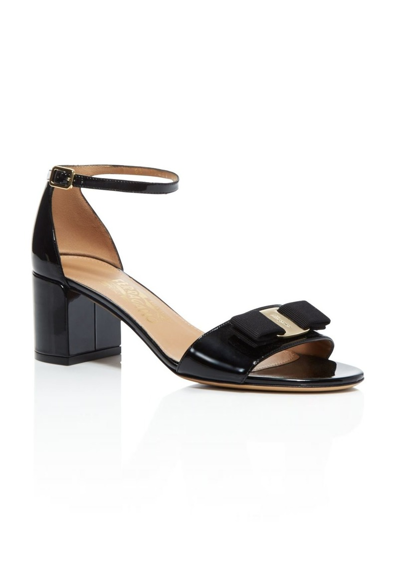 Salvatore Ferragamo Women's Gavina Ankle Strap Block Heel Sandals