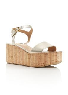 Salvatore Ferragamo Women's Leather Ankle Strap Platform Wedge Sandals