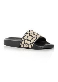 Salvatore Ferragamo Women's Logo Print Slide Sandals