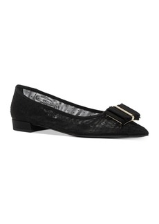Salvatore Ferragamo Women's Pointed-Toe Mesh Flats