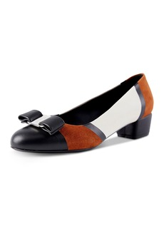 Salvatore Ferragamo Women's Vara Color-Block Pumps