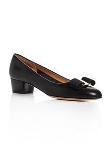 Salvatore Ferragamo Women's Vara Leather Low Heel Pumps