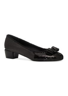 Salvatore Ferragamo Women's Vara Sequin Low-Heel Pumps