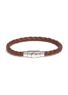 Salvatore Ferragamo Woven Bracelet with Prong Closure