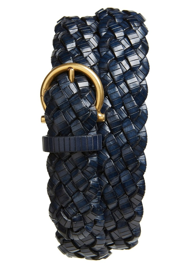 Salvatore Ferragamo Woven Leather Belt