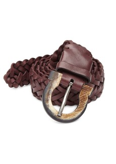 Ferragamo Gancio Buckle Woven Leather Belt