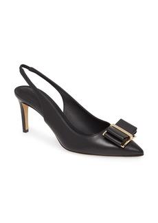 Salvatore Ferragamo Zahir Bow Slingback Pointed Toe Pump (Women)