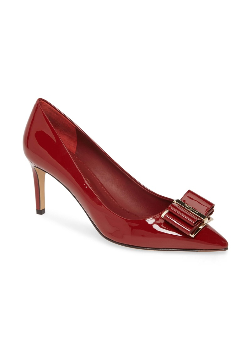 Salvatore Ferragamo Zeri Bow Pointed Toe Pump (Women)
