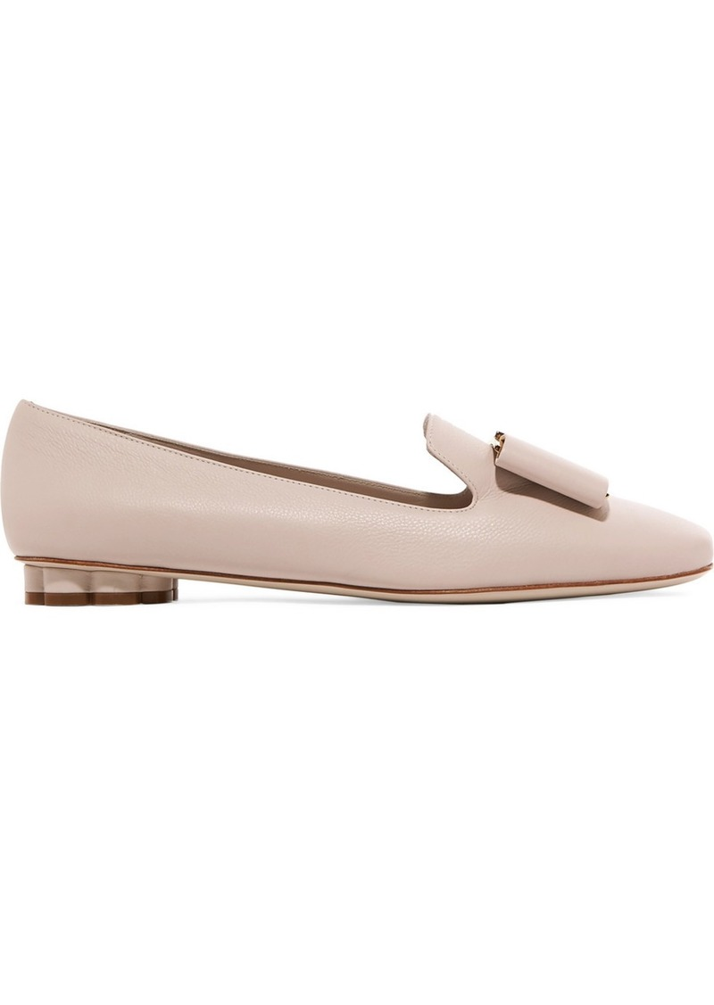 Ferragamo Sarno Bow-embellished Leather Loafers