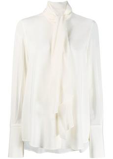Ferragamo scarf draped blouse