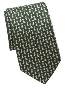 Ferragamo Scotty Dog Silk Tie
