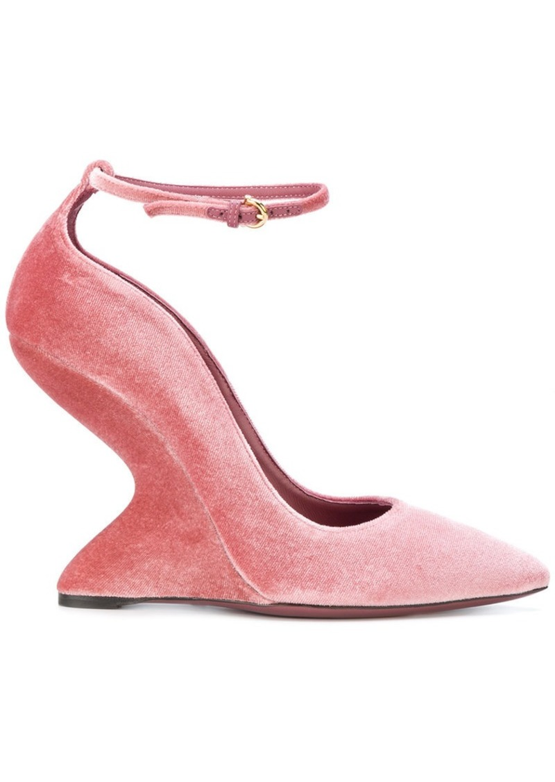Ferragamo sculpted-heel pumps