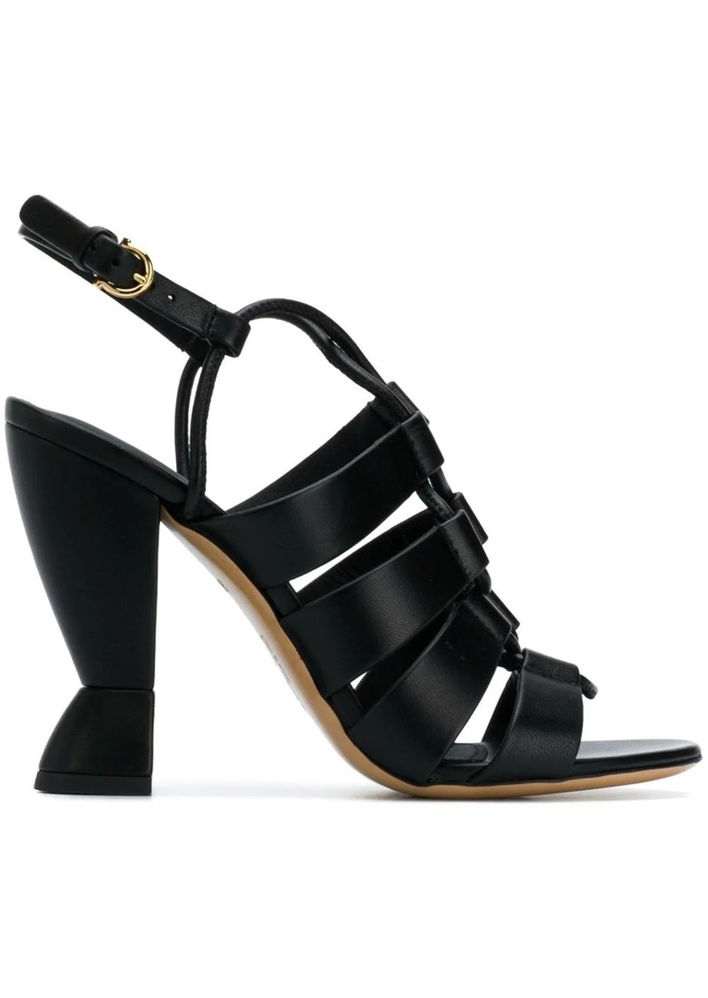 Ferragamo sculpted heel sandals
