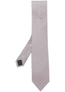 Ferragamo seahorse print tie