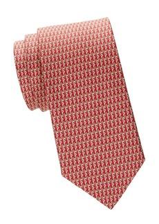 Ferragamo Seahorse Silk Tie