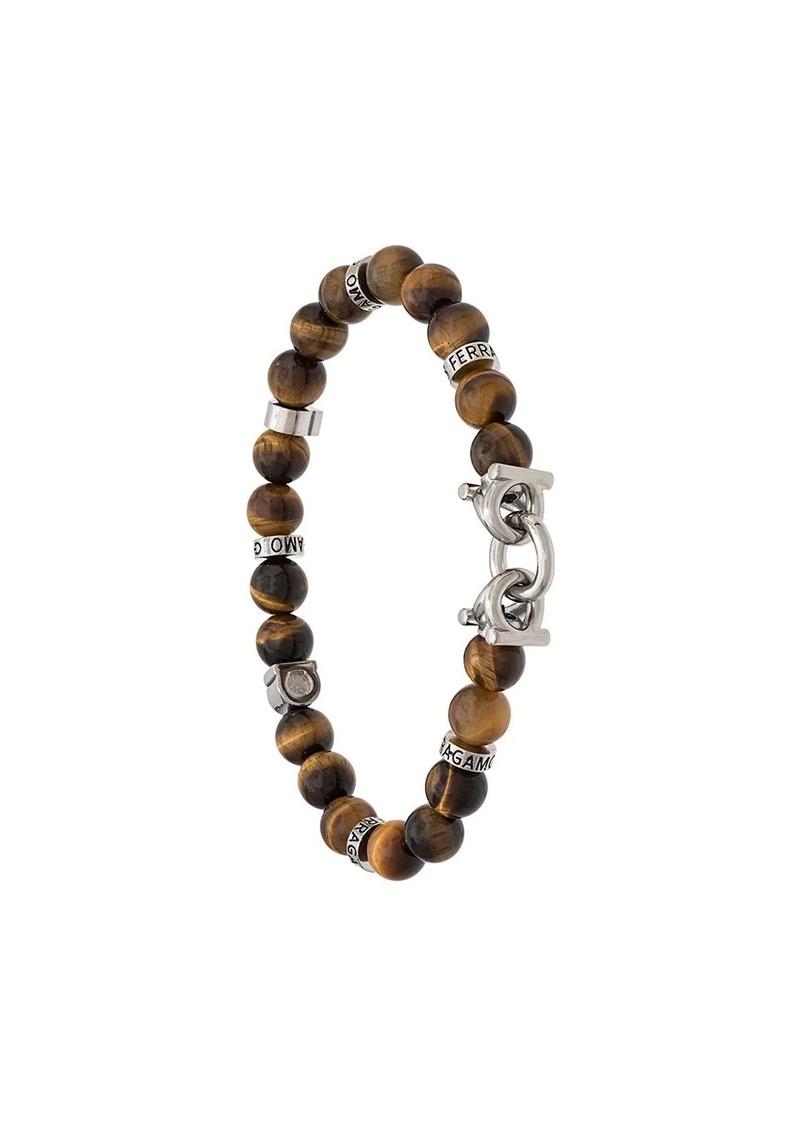 Ferragamo semi-precious stone and Gancini bracelet