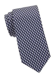 Ferragamo Shark-Print Silk Tie