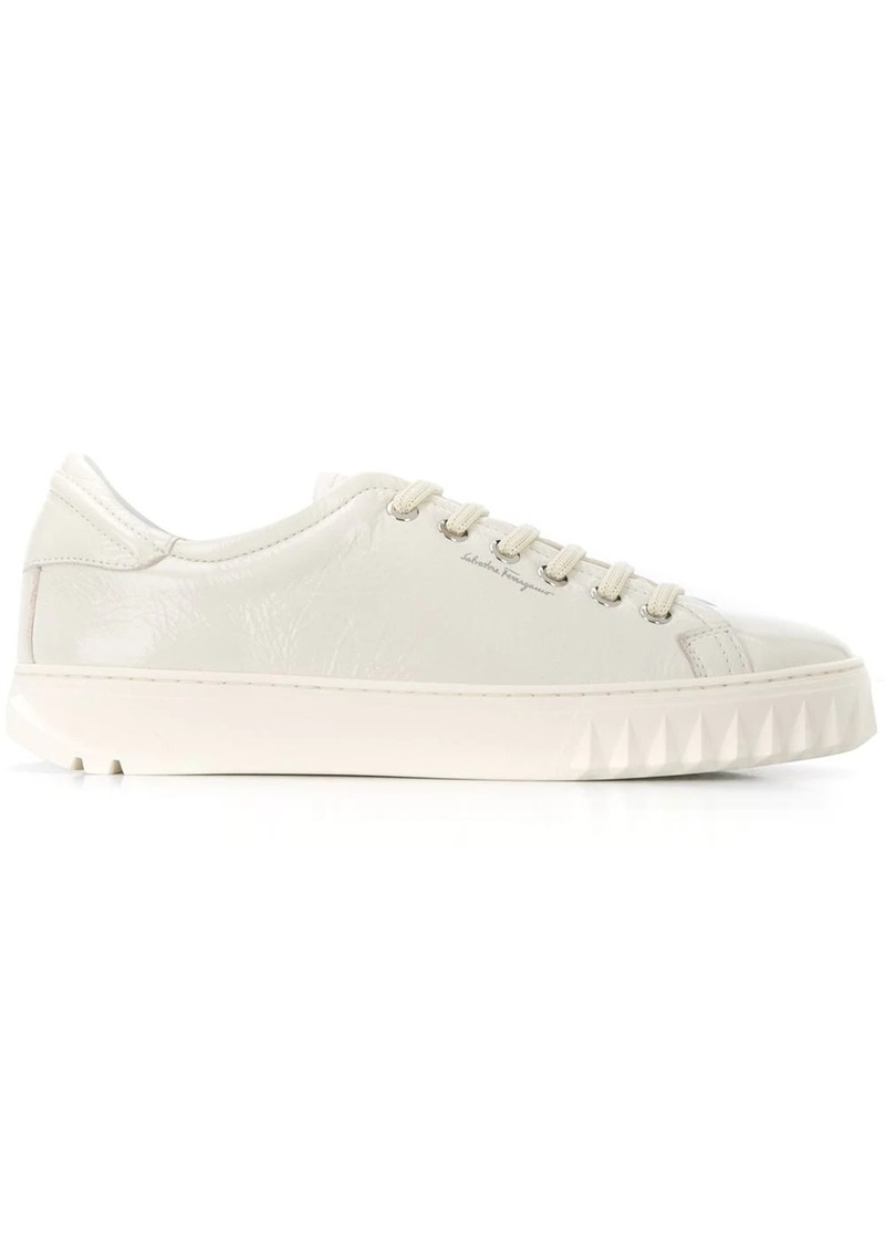 Ferragamo shark tooth detail sneakers