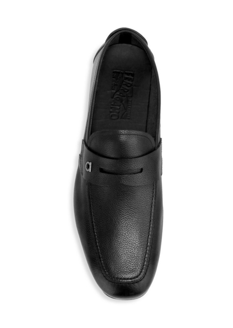 Ferragamo Sigfrid Leather Penny Loafers