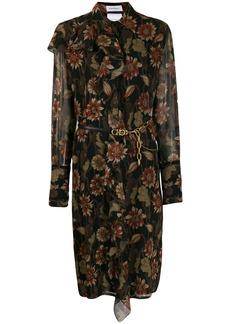 Ferragamo silk crepe printed dress