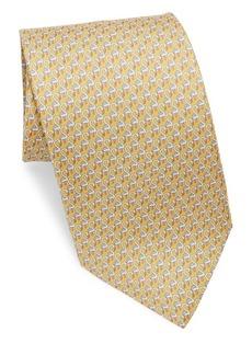 Ferragamo Silk Flamingos Tie